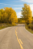 Open Road Scenic Journey Two Lane Blacktop Highway Fall Color Royalty Free Stock Photography