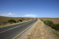 Open road in South African countryside Royalty Free Stock Image