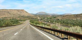 Open road to Monument Valley, Arizona Stock Photo