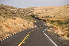 Open Road Two Lane Highway Oregon State USA Royalty Free Stock Photo
