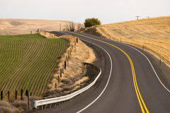 Open Road Two Lane Highway Oregon State USA Royalty Free Stock Photography