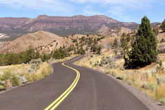 Open Road Two Lane Highway USA Transportation North America Stock Photography