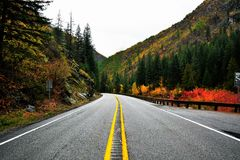Open Road. On the way to Leavenworth Royalty Free Stock Photos