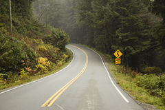 Open Road on West Coast Royalty Free Stock Photo
