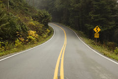 Open Road on West Coast Royalty Free Stock Images