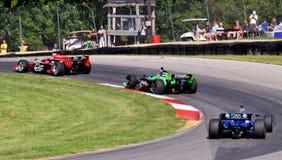 Open rodó los coches de carreras Imagen de archivo