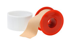 Open Roll of Medical Sticking Plaster royalty free stock photography