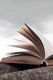 Open rood boek Stock Foto's