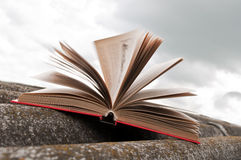 Open rood boek Royalty-vrije Stock Foto's