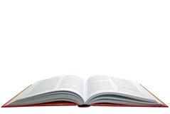 Open rood boek royalty-vrije stock afbeelding