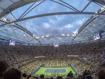 Open roof at the Mens final of the US open Stock Photos