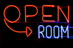 Open room neon sign Royalty Free Stock Photos