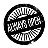 Always Open rubber stamp Stock Image