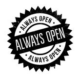 Always Open rubber stamp Royalty Free Stock Photo