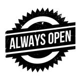 Always Open rubber stamp Royalty Free Stock Photography