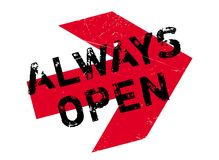 Always Open rubber stamp Royalty Free Stock Image