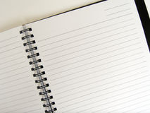 Open ruled ring notebook Stock Photo
