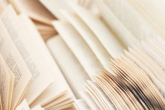 Open  russian books a lot of pages Royalty Free Stock Photo