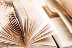 Open  russian books a lot of pages under Royalty Free Stock Photography