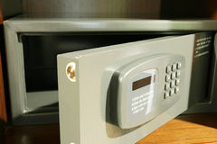 Open safe. Small,open safe in hotel royalty free stock photography