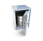 Open safe database Stock Photos