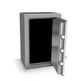 Open safe deposit 3D. Bankruptcy concept Stock Image
