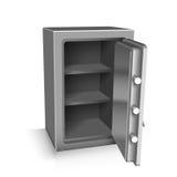 Open safe deposit 3D. Vector illustration Royalty Free Stock Photos