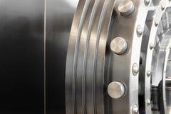 Open safe door. An open safe door in a vault Stock Photo