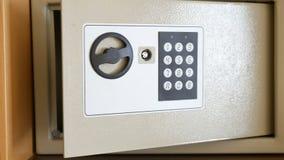Open safe electronic keypad. Open safe with electronic keypad stock video