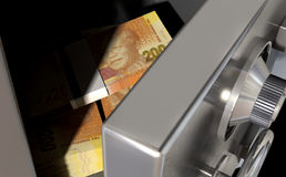 Open Safe With South African Rands Royalty Free Stock Image