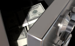 Open Safe With US Dollars Royalty Free Stock Photo