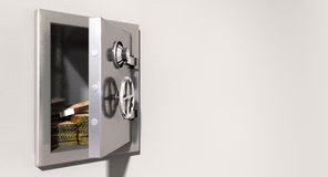 Open Safe On Wall With South African Rands Stock Photography