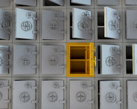 Open safes Stock Photography