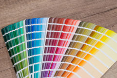 Open sample colors catalogue Royalty Free Stock Image