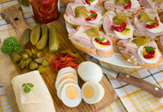 Open sandwich Royalty Free Stock Photography