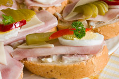 Open sandwich Stock Image