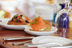 Open sandwich Royalty Free Stock Images