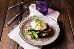 Open sandwich with fish Stock Photos