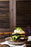 Open sandwich with fish Royalty Free Stock Photography