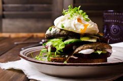 Open sandwich with fish Stock Image