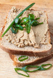 Open sandwich with liver pate Stock Photos