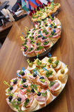 Open sandwiches Royalty Free Stock Images