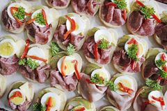 Open sandwiches Stock Images