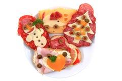 Open sandwiches Stock Foto