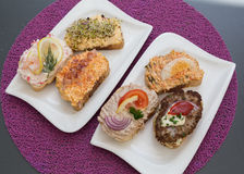 Open Sandwiches in Austria Royalty Free Stock Images