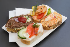 Open Sandwiches in Austria Royalty Free Stock Image