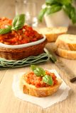 Open sandwiches with eggplant salad (caviar), ukrainian food Stock Photo