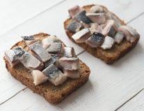 Open sandwiches stock photos