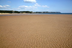 Open Sandy Beach, Oxwich Bay, Wales Stock Photography
