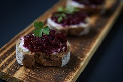 Appetizers in nordic style Stock Photo